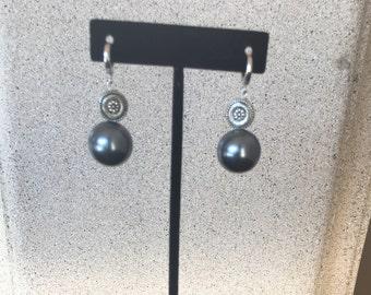 Silver Pearl Earrings by Dobka