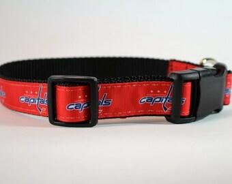 Capitals dog collar,  Caps dog collar, Washington capitals dog collar, red collar,  pet gift, dog accessory, Bozies Bags