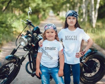 "Toddler - Kids - Youth - T-Shirt Premium Retail Fit ""BIGGIE or smalls"" Photoshoot, Cute, Kids Tee, T-Shirt 2017 (2T-4T) or  (YXS-YXL)"
