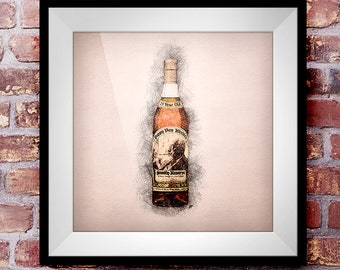 Pappy Van Winkle's Family Reserve 23 Year  - Crosshatch Whisky Wall Art