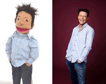 Custom puppet Likeness puppet Bespoke Puppet Look alike puppet hand puppet based on anyone you like!