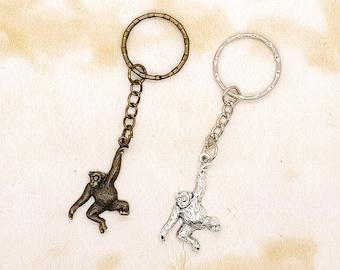 Swinging Monkey / Ape Keyring Gift Idea Choice of Colours