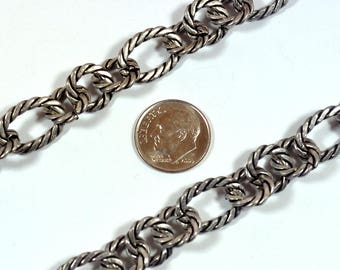 Large Rope Chain - Antique Silver - CH84-AS - Choose Your Length