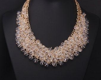 18k Gold Plated Swarovski Crystal Party Necklace NK14094