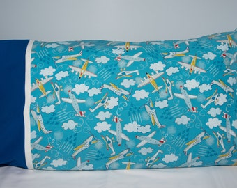 Airplane Pillowcase/Helicopter/Jets/Pillow Case