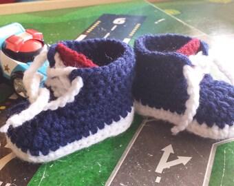 Crochet Sneakers Pattern Size 0-3 months