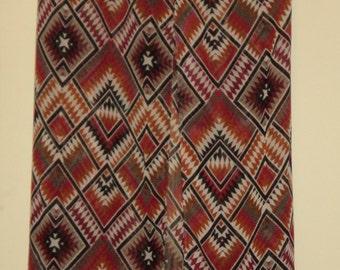 Sheer red & gold tribal print over skirt