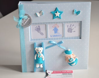 baby boy photo album perfect text in the center of the customizable birthday gift