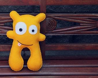 Richie - Gold Felt Monster Soft Toy