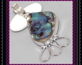 LARGE Abalone Shell  Pendant