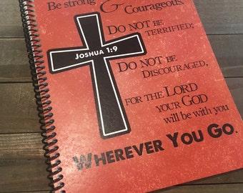 Mens Prayer Journal - Bible Journaling - Christian gift - Scripture Journal - Bible Study - Teen Prayer Journal - *Orange Pictured*
