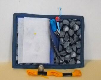Seashells Needle Book, Needle Case, Hand Sewing Organizer