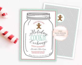 Christmas Cookie Exchange Invitation, Christmas Party Invitation, Christmas Invites, Cookie Exchange Invite, Christmas Party [322]