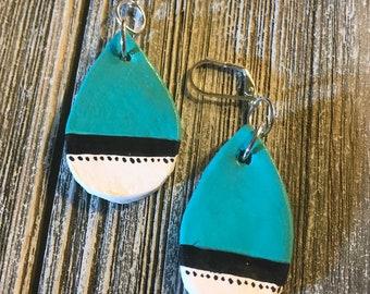 Handmade Ceramic Lever Back Earrings