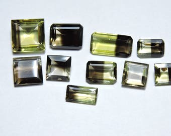 10 pieces Very Attractive Natural Double Color Ametrine Faceted Mix Shaped Gemstones Size 8X8 - 13X7 MM
