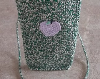 Fast Action Needed Only One Of Its Kind, Fast Shipping Included:) Crochet Item iphone 5 Necklace Case w/ hand knit -i-cord