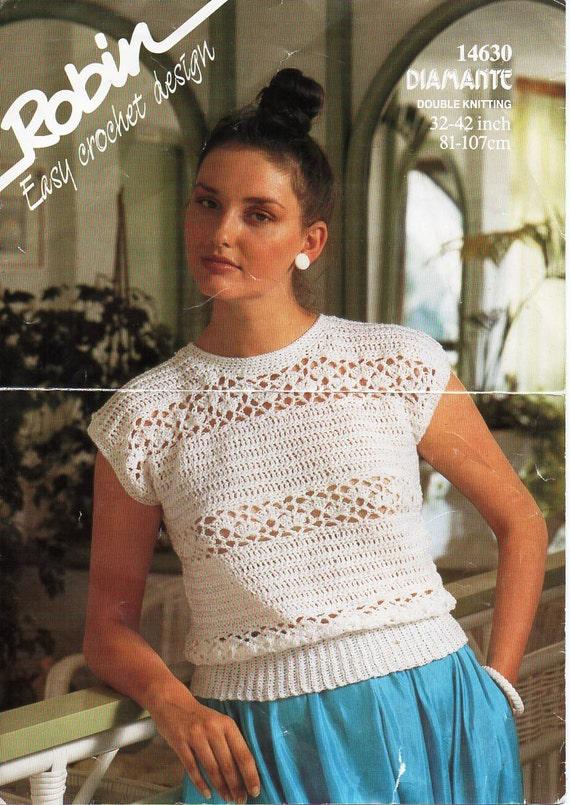 ladies crochet top pattern crochet pattern pdf womens crochet top 32 ...