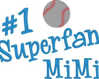 Super Fan MiMi Embroidery Design