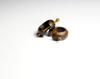 Wooden Earrings | Hand Made Earrings | Handmade Jwelry | Wooden Jewelry | Locust Earrings | Walnut Earrings