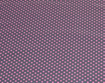 "LAMINATED Cotton  - Neon Pink Dots, 56"" Wide, BPA & PVC Free"