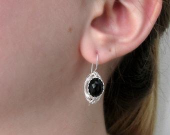 Mother's day jewelry, Jewelry, earrings, sterling silver earrings, dangle  earrings, black onyx earrings, israeli earrings, sale, gift