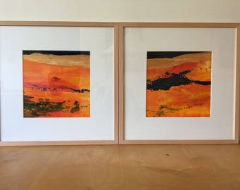Golden landscape    50x50 cm. Not framed   Original acrylic painting.