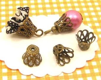 bronze pearls 80 hats 8 * 9mm AB22 X 2