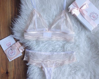 Peach underwear set