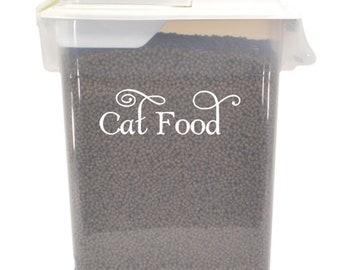 "Cat Food Label 5"" x 1.5"" Vinyl Decal Sticker - Feline Kitten Treats -  20 COLOR OPTIONS *Free Shipping*"