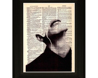 "Migraine"".Dictionary Art Print. Vintage Upcycled Antique Book Page. Fits 8""x10"" frame"