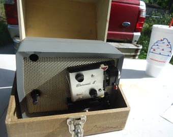 Vintage Kodak Brownie Movie Projector Model A-15 8mm In Box Case, collectable