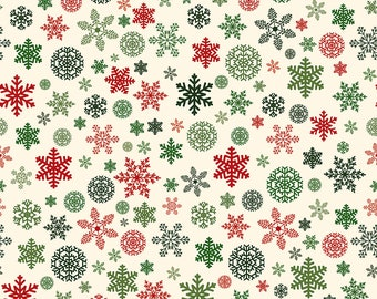 Christmas Delivery Snowflakes Cream C7333-Cream by Carta Bella