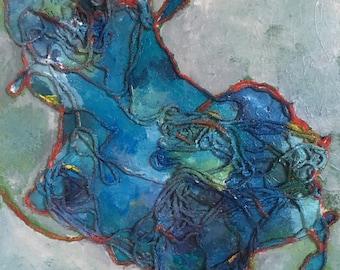 Mixed Media #8 12x12 painting