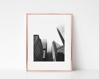 Cityscape Wall Art, Printable Art, Photography Print, Wall Decor, Wall Art, City, Buildings, Architecture, Skyscraper