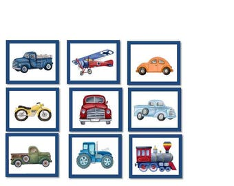 transportation car trucks boys bedroom wall art decor