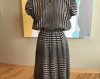 Vintage 1980s does 1940s Swing Dress
