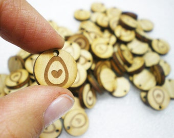 Custom Wooden Tag Button for clothes, knitting button. Circle Shape. Round Shape. Made to order