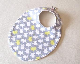 Baby Shower favor handmade TODDLER Bib, Baby Girl Bib, Baby boy bib, Grey and Yellow Baby  Baby Shower Gift Newborn Baby Gift , Gray bib