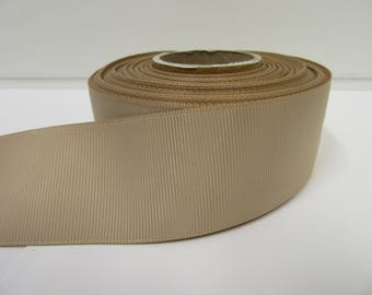 Grosgrain Ribbon 3mm 6mm 10mm 16mm 22mm 38mm 50mm Rolls, Light Gold, 2, 10, 20 or 50 metres, Ribbed Double sided,