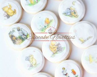 Classic Winnie the Pooh Baby Shower Classic Pooh Baby Shower Pooh Cookies Vintage Winnie the Pooh Birthday Favors Pooh Baby Shower Piglet