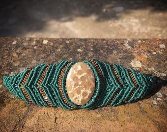 Bracelet with fossil coral Agatizado