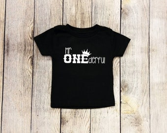 Mr Onederful Shirt | Boy's First Birthday Shirt | First Birthday | 1st Birthday Shirt | Peronalized Birthday Shirt | Mister Onederful Shirt