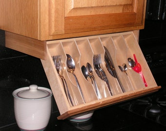 Under cabinet drawer Silverware Storage - Flatware Organizer