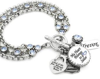 Sailor Charm Bracelet, Military Jewelry, Personalized Sailor Bracelet,  Navy Charm Bracelet