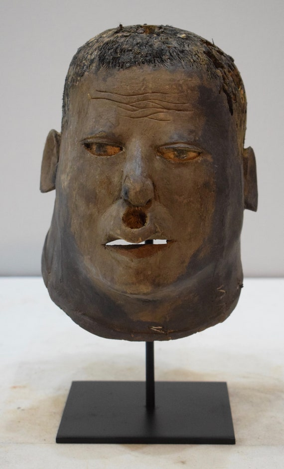 African Mask Makonde Helmet Wood Mask Tanzania Initiation Male Ancestor Spirit Makonde Mask