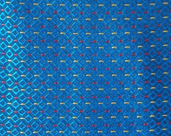 1960s Length of Vintage Machine Woven Fabric