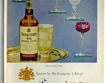 1951 LIFE Magazine Seagram's V.O. Canadian Whiskey Ad - vintage magazine ad framable