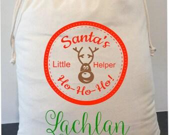 personalised santa sack 40cm x 50cm