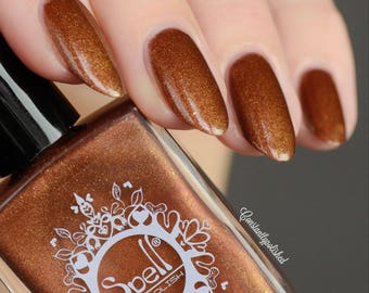 Golden Handcuffs SPELL Copper & Gold matte nail polish w/hidden shimmer!