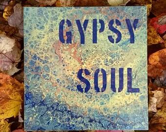 Gypsy Soul - original acrylic painting